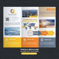 brochure templates for business free download vibrant colorful travel business trifold brochure template vector