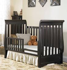 Bonavita Convertible Crib Bedroom Stunning Grey Wood Stained Bonavita Baby Furniture Nurani
