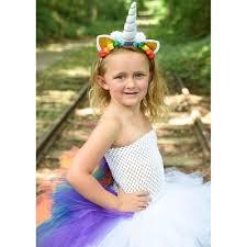 bright rainbow unicorn bustle tutu dress girls little pony
