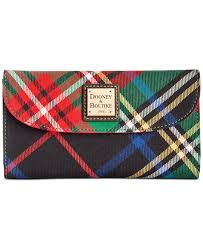dooney u0026 bourke tartan wallet in green lyst