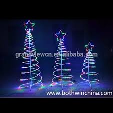 New Year Outdoor Decoration by Led Outdoor Spiral Rope Light Christmas Tree For Street Decoration