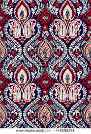 seamless paisley wallpaper pattern stock vector 449590261