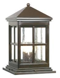 outdoor pier mount lights outdoor column mount lighting fixtures abbey outdoor rubbed bronze