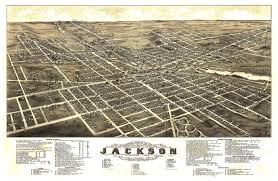 Warren Dunes State Park Map by Vintage Map Of Jackson Michigan 1881 Jackson County Poster