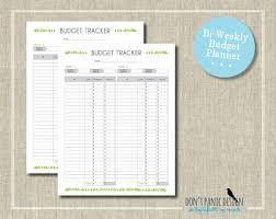 budget sheet etsy