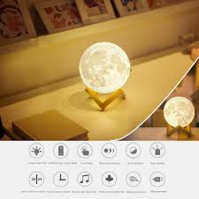 remote control bedroom l fashion night light 3d print moon wall hang led sensor l with