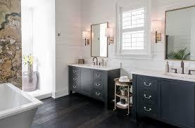 farmhouse style bathrooms bathrooms farmhouse style bathroom with stone wall and twin black