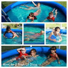 mom to 2 posh lil divas backyard ocean big pool fun for small spaces