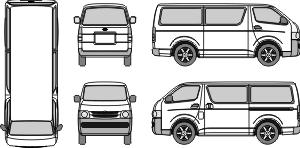 Toyota Hiace Van Interior Dimensions Mr Clipart