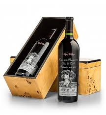 wine and cheese gifts engraved silver oak cabernet gift gifttree