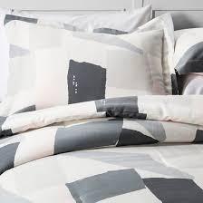Nate Berkus Duvet Cover Gray U0026cream Painterly Color Block Comforter Set Nate Berkus Target