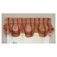 Waverly Home Decor by Shop Waverly Home Classics 16 In Red Cotton Rod Pocket Valance At