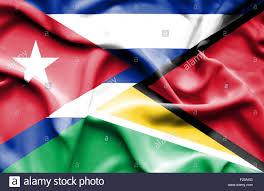 Guyana Flag Waving Flag Of Guyana And Cuba Stock Photo Royalty Free Image