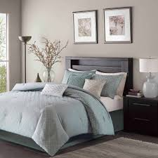 Grey California King Comforter Home Essence Hudson 7 Piece Comforter Set Walmart Com