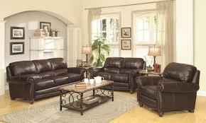 Burgundy Living Room Set Lockhart Sofa 504691 In Burgundy Brown Leather By Coaster