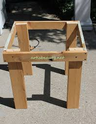 Build Outdoor End Table by Building Pallet End Table With Graphic Pallet Wood Woodworking