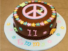 lisa frank floral peace sign cake using cookies addie u0027s 7th