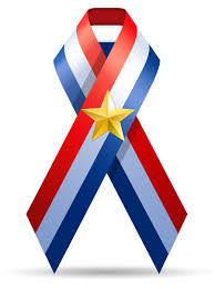 white blue ribbon u s a flag ribbon