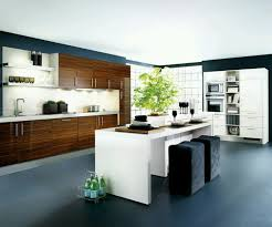 kitchen amazing open kitchen design with glossy natural brown