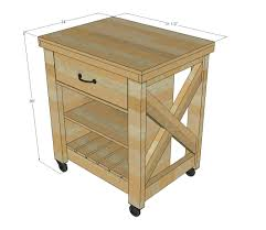 Free And Easy Diy Furniture Plans by Ana White Build A Rustic X Small Rolling Kitchen Island Free