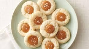 salted caramel thumbprint cookies recipe pillsbury