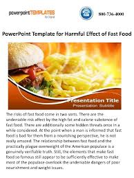 Powerpoint Template For Harmful Effect Of Fast Food Authorstream Fast Food Ppt
