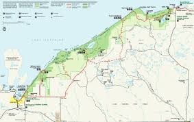 Map Of Michigan Lakes by Map Of Pictured Rocks National Lakeshore Pictured Rocks National