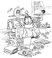 garfield coloring pages 20031 bestofcoloring com