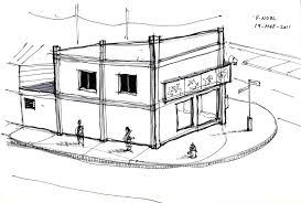 architecture sketch u2013 corner carlos st mucurapo rd st james