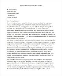 reference letter for teachers letter of recommendation from