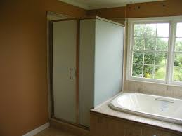 Frosted Frameless Shower Doors by Frosted Glass Shower Enclosure