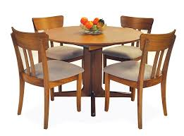 round dining room table with leaf iron wood