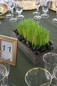 Dining Table Centerpiece Ideas Best 25 Grass Centerpiece Ideas On Pinterest Baseball Party