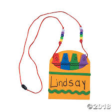 name tag necklace to school name tag necklace craft kit