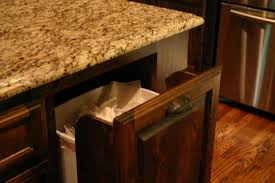 kitchen island with garbage bin enthralling kitchen island with trash bin also waterfall granite
