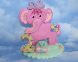 edible fondant circus baby elephant cake topper from