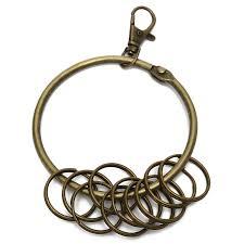 round key rings images Large big key chain rings keychain keyring retro vintage bronze jpg