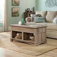 sauder harbor view bookcase with doors antique white sauder harbor view salt oak lift top coffee table 420329 the