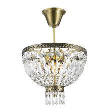 Flush Mount Mini Chandelier Worldwide Lighting Metropolitan Collection 1 Light Antique Bronze