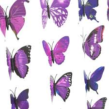 practical new art design decal wall stickers 3d butterfly wall practical new art design decal wall stickers 3d butterfly wall stickers home decor room decoration 12pcs purple in wall stickers from home garden on