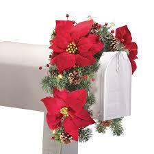 amazon com solar poinsettia swag holiday mailbox decoration