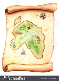 Old Treasure Map Treasure Map Illustration