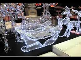 3d led rope light sleigh reindeer the warehouse
