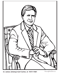 free printable coloring pages of us presidents free printable president jimmy carter coloring pages presidents