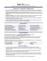 it management resume exles project management resume sle template surprising exles