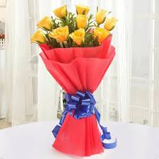 same day just because flowers send yellow bouquet in india same day midnight send flower
