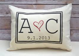 2nd anniversary gifts for personalized pillow two hearts 2 hearts are one with