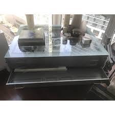 Metal Drafting Table Diva Furniture Steel Drafting Table W Glass Top Aptdeco