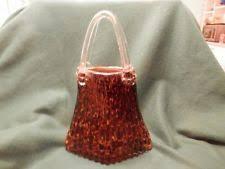 Murano Glass Purse Vase Murano Basket Hand Blown Italian Art Glass Ebay