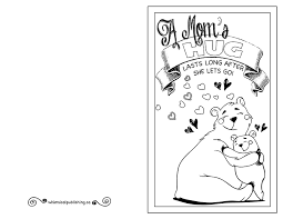 printable mother u0027s day card to colour